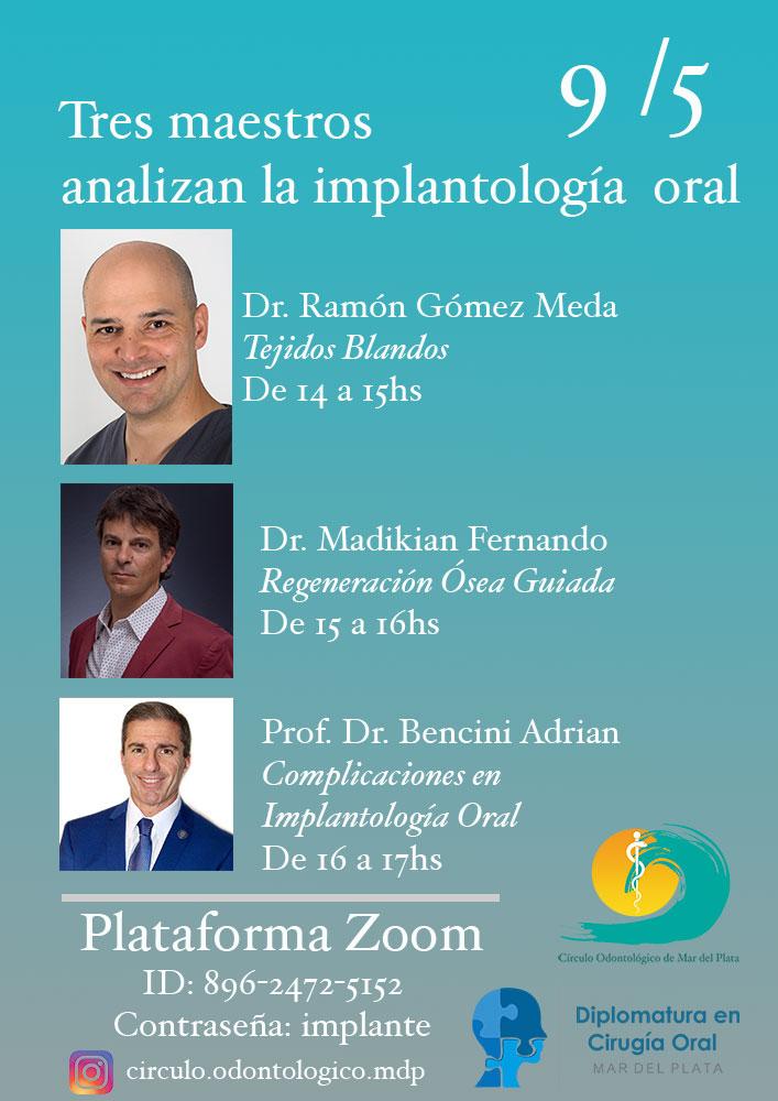 Tres maestros analizan la implantología oral
